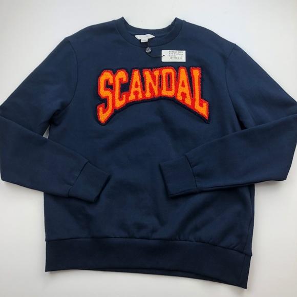 Eleven Paris Mens Sweatshirt L Scandal Embroidered NWT